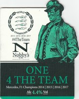 NOBBY'S BREWERY (KETTERING, ENGLAND) - ONE 4 THE TEAM - PUMP CLIP FRONT - Signs