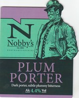 NOBBY'S BREWERY (KETTERING, ENGLAND) - PLUM PORTER - PUMP CLIP FRONT - Signs