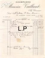 28-1528    1924 CHAMPAGNE MAURICE VAILLANT A AY - M. LE DOCTEUR SAINT RENE BONNET - France