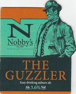 NOBBY'S BREWERY (KETTERING, ENGLAND) - THE GUZZLER - PUMP CLIP FRONT - Letreros