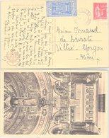 CARTE MARSEILLE VIGNETTE NOTRE DAME DE LA GARDE 1935 POUR VILLIE-MORGON - Commemorative Labels