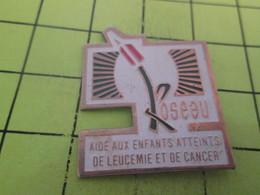 718A Pin's Pins / Beau Et Rare : THEME : MEDICAL / LE ROSEAU AIDE AUX ENFANTS ATTEINTS DE LEUCEMIE ET DE CANCER - Médical