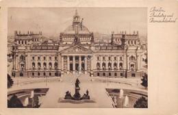 Cartolina Berlin Reichstag Und Bumarckdenkmal 1938 - Cartoline