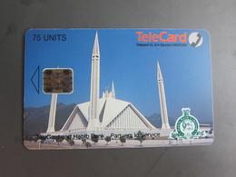 Telecard Chip Phonecards,mosque Addition Print Habib Bank Logo,75 Units - Pakistan