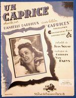 40 60 PIANO GF CHANT FILM ACE CAPRICES DANIELLE DARRIEUX PARTITION UN CAPRICE JEAN SOLAR VAN PARYS 1943 JOANNON PRÉJEAN - Música & Instrumentos