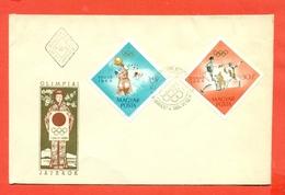 OLIMPIADI - SCHERMA - PALLANUOTO - UNGHERIA - MAGYAR POSTA 1964 OLIMPIADI TOKYO- - Scherma