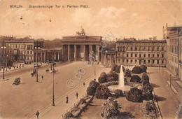 Cartolina Berlin Brandenburger Tor U. Pariser Platz 1912 - Cartoline
