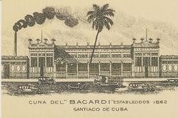 "CARTOLINA -PROMOCARD 1204 Free Cards - CUNA DEL ""BACARDI"" ESTABLECIDOS 1862 - SANTIAGO DE CUBA - Pubblicitari"