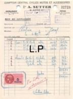 29-0400     1947 COMPTOIR CENTRAL CYCLES MOTOS ET ACCESSOIRES ETS A SUTTER A CHATELLERAULT - M. COMPAIN A CIVRAY - France