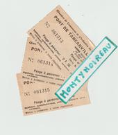 Vieux  Papier : Ticket , Pont De Tancarville , Seine  Maritime , Le Havre  Chambre De  Commerce Lot De 3 - Tickets D'entrée