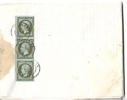 LANGRES TIMBRES EMPIRE 1C - 1853-1860 Napoléon III