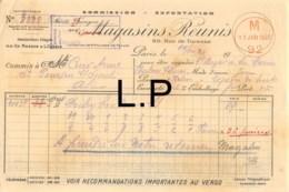 29-0866    1920 MAGASINS REUNIS A PARIS - BAZAR DE LA MARNE A CHALONS SUR MARNE - France