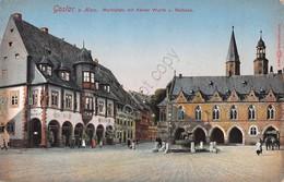 Cartolina Goslar Marktplatz Mit Kaiser Worth - Cartoline