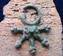 Ancient Vikings Decoration Head 9-12 Century - Archéologie