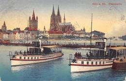 Cartolina Koln Rheinpartie 1912 - Cartoline