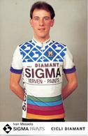 MESSELIS Ivan BEL (Roeselare (West-Vlaanderen), 28-3-'58) 1987 Sigma - Diamant - Cyclisme