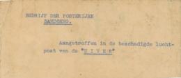Nederlands Indië - 1934 - Uiver Crashmail Kerstbriefkaart En Begeleidend Briefje, Adres Leesbaar, Naar Soerabaja - Niederländisch-Indien