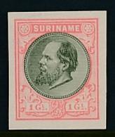 Suriname - 1888 - 1 Gulden Willem III - Proevenboek 13b Rose Met Olijf - Suriname ... - 1975