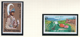 1969/70 - NEPAL  -  Mi. Nr.  236+246 - NH - (CW4755.43) - Nepal