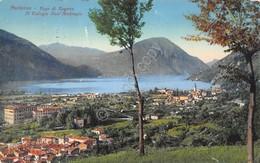 Cartolina Porlezza Lago Di Lugano Illustrata 1933 Segnata - Cartoline