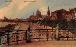 Cartolina Koln Kaiser Friedrich Ufer Anni '10 - Cartoline