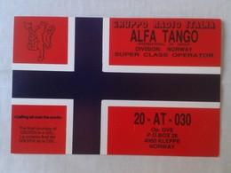 POSTAL POST CARD QSL RADIOAFICIONADOS RADIO AMATEUR GRUPPO ALFA TANGO ITALIA DIVISION NORWAY NORGE NORUEGA FLAG...VER - Tarjetas QSL