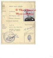 CARTE D IDENTITE 1971 MARIE VVE DIDIER GERMAINE NEE 1897 FRAIZE VOSGES - TIMBRE FISCAL 10 FRCS - Documents Historiques