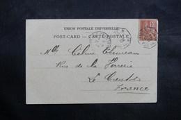 """FRANCE - Oblitération MarItime """" Ligne N Paq. FR N°1 """" Sur Carte Postale De Suez En 1902 Pour La France - L 36066 - Marcophilie (Lettres)"""