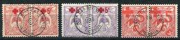 NOUVELLE-CALEDONIE THEME CROIX-ROUGE N°110 / 112 EN PAIRE AVEC OBLITERATION OUEGOA - Used Stamps