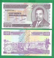 BURUNDI - 100 FRANCS – 2011 -  UNC - Burundi