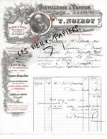 54 - Meurthe-et-moselle - NANCY - Facture NOIROT - Distillerie, Eaux De Vie, Sirops, Liqueurs - 1900 - REF  120B - 1900 – 1949