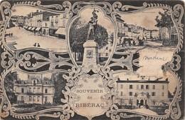 Cartolina Riberac Multi Views 1918 Damaged - Cartoline