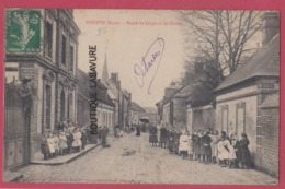 27 - BOURTH----Route De Laigle Et Les Ecoles---tres Animé - Francia