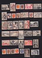 FRANCE 100 Timbres Oblitérés Tous Différents Cote 120€ ( 1948 à 1958 ) Et Quelques Petits Et Second Choix Non Comptés - France