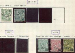 13848 MONACO Collection Vendue Par Page N°44, 47, 51/3 */ (*)  1920-22     B/TB - Neufs