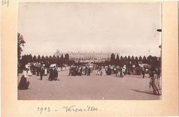 Dépt 78 - VERSAILLES - Château - Photographie Collée Sur Carton, 1903 - Photo - Versailles