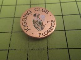 1012B Pin's Pins / Beau Et Rare : THEME : ANIMAUX / TORTUE JOGGING CLUB FLORANGE - Animali