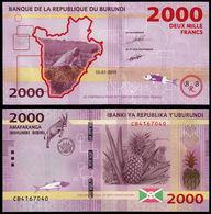 BURUNDI - 2000 FRANCS – 2015 -  UNC - Burundi