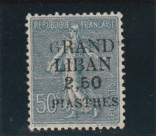 TIMBRE GRAND LIBAN Timbre De France De 1900 _ 21   N° 9*  Surchargé  Variété - Grand Liban (1924-1945)