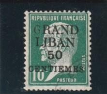 TIMBRE GRAND LIBAN Timbre De France De 1900 _ 21 Pasteur   N° 15  Surchargé Oblitéré Variété - Gran Líbano (1924-1945)