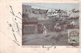 Cartolina Tanger Morocco Camino De La Playa Grande Damaged - Cartoline