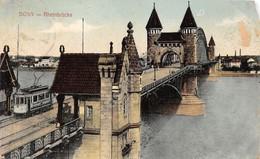 Cartolina Bonn Rheinbrucke 1912 Damaged - Cartoline