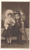 REAL PHOTO - Cute Kids Girl Boy In Slovenia National Costume , Fillette Garcon , Old Postcard - Persone Anonimi