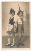 REAL PHOTO - Cute Kids Girls In Slovenia National Costume , Fillettes Old Postcard - Persone Anonimi