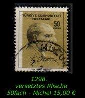 TURKEY ,EARLY OTTOMAN SPECIALIZED FOR SPECIALIST, SEE.... Mi. Nr. 1979 - Versetztesd Klische - 1921-... República