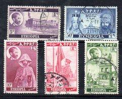 ETP225 - ETIOPIA 1950 , Serie Yvert  N. 284/288  Usato . Incoronazione - Etiopia
