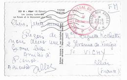 GUERRE ALGERIE  - AOUT 1962 ! - CARTE FM Du SP 89040 ALGER => VICHY - Guerra D'Algeria