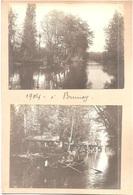 Dépt 91 - BRUNOY - 2 Photographies Collées Sur Carton, 1904 - PROMENADE EN BARQUE - Photo - Brunoy