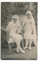 Catholic Girls Kids First Holy Communion, Fillettes, Vintage Photo ORIG. - Persone Anonimi