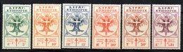 ETP214 - ETIOPIA 1951 , Serie Yvert  N. 302/307 *  Linguellato. Croce Rossa - Etiopia